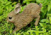 NEW Baby Hare Cub Running Adorable Cute Figurine - Statue Home / Garden