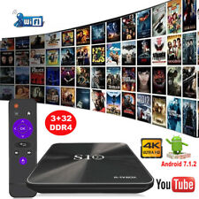 Android 7.1.2 Nougat DDR4 3+32G Octa Core Media Player 4K DUAL WIFI Smart TV BOX