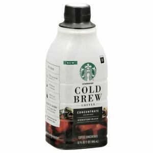 Starbucks Cold Brew Coffee Concentrate Signature Black 32 oz Bottle