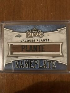 2019-20 Lumber Kings Jacques Plante 1/1 Game Used Stick Nameplate
