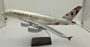 LED Light 45cm A380 Etihad Airbus Aeroplane Plane Model Airways Airline Dubai