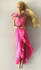 Vintage Barbie Twirly Curls 1982 In Original Dress