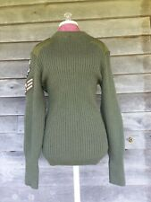 Vtg British? Army? Commando Jumper 106cm Wool? Sweater Jersey Knit Patch Miltary