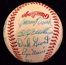ROGER MARIS Johnny Bench ERNIE BANKS Multi Signed Baseball JSA COA LOA Autograph
