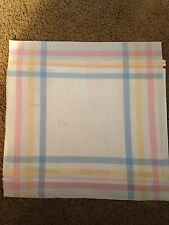 2 Charles Craft Cross Stitch Fabric! 14 Count Cornerblock!! Pink, Yellow & Blue!