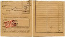 FRANCE POSTAGE DUES 30c x 2 on PART FORM 1896