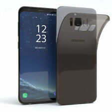 Ultra Slim Cover für Galaxy S8 Case Silikon Hülle Transparent Schwarz
