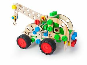 Construction Model Vehicle Toy Pull Truck 102 Pieces Build Your Own Kids Age 4+