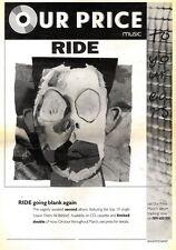14/3/92Pgn02 Advert: Ride Eagerly Awaited New Album going Blank Again 15x11