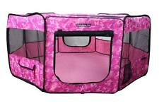"62"" Portable Puppy Pet Dog Soft Tent Playpen Folding Crate Pen New - Pink Camo"