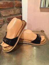 Vintage Dr. Scholls Black Suede Sandals Sz 9
