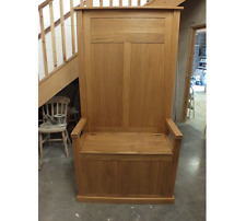 TALL HALL/ MONKS BENCH 100% SOLID OAK HAND MADE VARIOUS SIZES & COLOURS BESPOKE