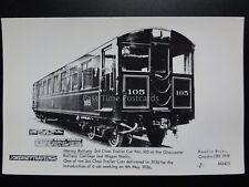 MERSEY RAILWAY 3rd Class Gloucester Carriage - Pamlin Print Postcard No.3423