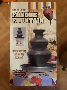 Chocolate Fondue Fountain. Nostalgia Electrics
