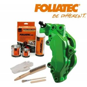 Kit peinture étrier ou tambour de frein Foliatec vert brillant - 2166 Power Gree