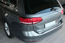 VW Passat 3G B8 Variant Edelstahl Chrom Ladekantenschutz Stoßstange Schutz 2014>