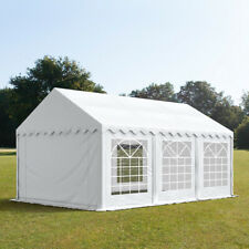 Marquee 4x6 white PVC 500g/m² party tent waterproof robust quick to assemble