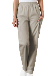 Cherokee Workwear Natural Rise Tapered Pull-On Cargo Pant Tall 4200T KAKW Khaki