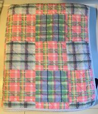 Tommy Hilfiger Madras Patchwork Pastel Coverlet Quilt ~ Twin