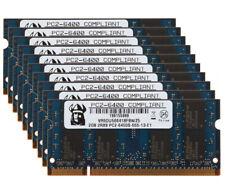 20GB 2GB x10pcs PC2-6400 2Rx8 DDR2-800Mhz Laptop SODIMM INTEL Memory RAM LOTS