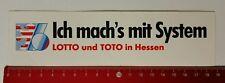 ADESIVI/Sticker: LOTTO e Toto in Hessen-faccio 's con sistema (060417148)