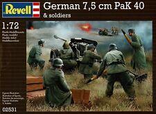 Revell 02531 Deutsche 7,5 cm Pak 40 und Figuren WWII