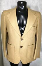 """Vintage Hornes Mens Blazer Safari Suit Jacket Camel Colour Wool Blend Size 40"""""""