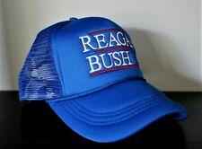 Reagan Bush '84 Trucker Hat Blue Baseball Cap Republican for President 1984