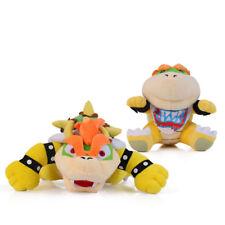 2X Super Mario Bros. King Bowser Koopa and Jr. Koopa Soft Figure Plush Dolls