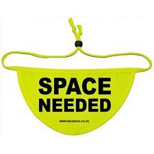 "Space needed NeonDog Flo Yellow ""SPACE NEEDED"" dog Bandana dogs that need space"