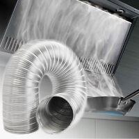 Aluminum Flexible Exhaust Air Vent Pipe Duct Ducting Tube Hose 8 Sizes Diameter