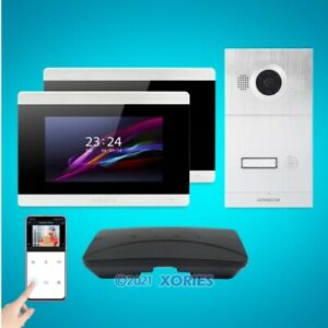 """HOMSECUR 7"""" Wired WIFI Video&Audio Smart Doorbell with Motion Detection"""