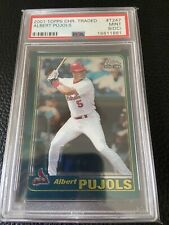New listing 2001 Topps Chrome Traded Albert Pujols St Louis Cardinals #T247 PSA 9