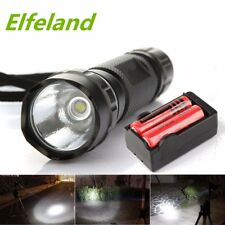 10000Lm 5 Modes Flashlight Torch Light WF-501B T6 LED +18650 Battery + Charger