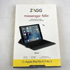 ZAGG Messenger Folio Tablet Keyboard And Case For The Apple IPad Pro 9.7 / Air 2