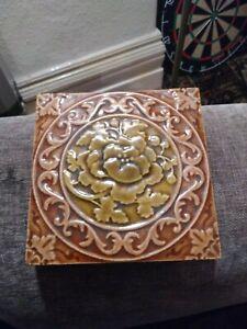 Victorian Arts And Crafts Majolica Tiles Circa 1880s
