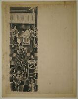 Dessin Original Ancien Encre Illustration Scène de genre LOUIS TOUCHAGUES 1937