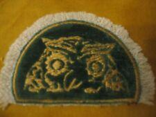 UNUSUAL  STRIKING OWL HALF OVAL  DOOR MAT   MINI  RUG  MINIATURE  DOLLHOUSE RUG