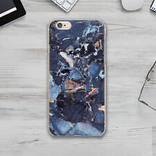 Silicone Case For iPhone For Apple iPhone 11 6 7 Plus 8 X Back Slim Agate Stone