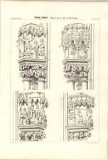 1858 Freiburg Cathedral Details Part Of Jambs West Doorway
