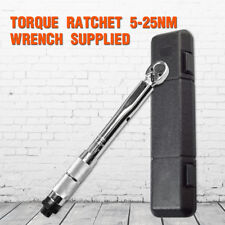 "Teng Tools Torque Wrench 1/4"" Drive 5-25Nm / 4 18 ft/lb Micrometer Tool + Bag"