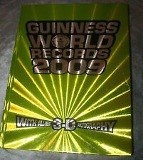 rM- BOOK GUINESS WORLD BOOK OF RECORDS 2009 BRIGHT COLOR UNUSED INFORMATIVE