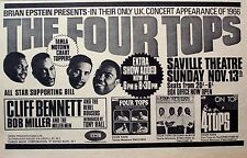THE FOUR TOPS 1966 Advert CONCERT SAVILLE THEATRE LONDON