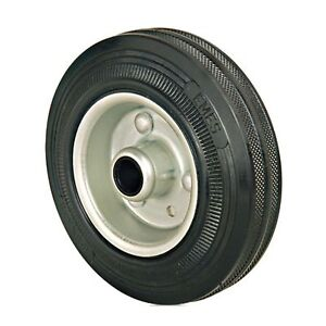 Set of 4 - 150mm Rubber Wheels Plain Bearings - Replacement trolley wheels