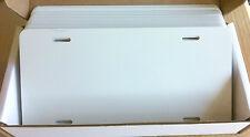 "25pcs.024 6""x12"" Gloss White/White Aluminum License Plate/Car Tag Blanks, masked"