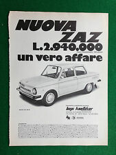 PV142/143 Pubblicità Advertising Clipping 31x23 cm - NUOVA ZAZ 968 M AUTO CAR