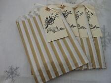 40 Gold Stripe Sweet Tweet LoveBirds Sweet Bags 4 tags Wedding Candy Bar  Favour
