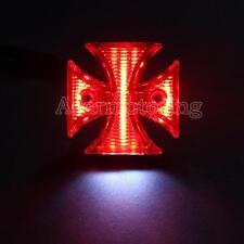 Maltese Cross LED Stop Tail Light For Harley Chopper Bobber Custom Motorcycle