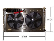 70-81 GM CAMARO NOVA PICKUP ALUMINUM RADIATOR W/ SHROUD & SPAL FANS 30102036