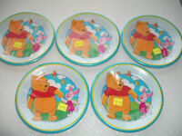 RARE! DISNEY Winnie the Pooh party paper plates 1999 NEW, SEALED, COLLECTIBLE